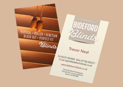 Bideford Blinds Business Card