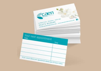 Caen Dental Appointment Cards