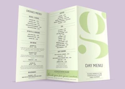 Greenhouse Menu