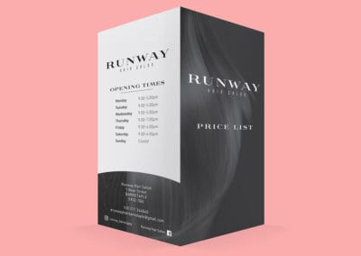 Runway Hair Salon Price List