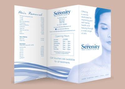 Serenity Beauty Pricelist