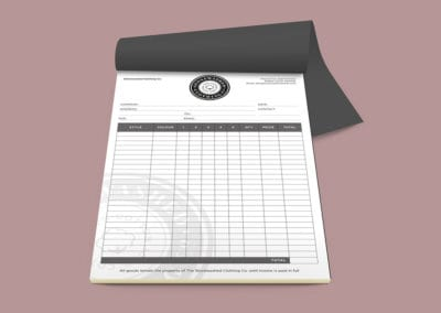 Stonewashed Clothing Invoice Pads