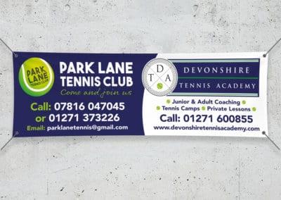 Devonshire Tennis Academy Vinyl Banner